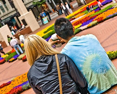 Visiting Pioneer Courthouse Square